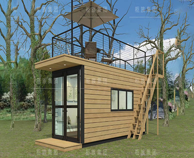 20ft modified wood container house